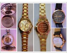 Grawer zegarków, grawerowanie zegarków