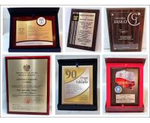 Drewniane dyplomy, certyfikaty i podziękowania