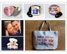 Upominki reklamowe z nadrukiem - torby, maskotki, podkładki pod mysz, krawaty, puzzle oraz plecaki